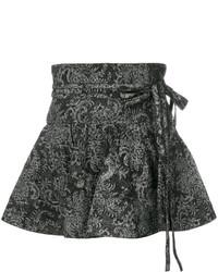 schwarzer bedruckter Minirock von Marc Jacobs