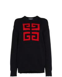 schwarzer bedruckter Oversize Pullover von Givenchy
