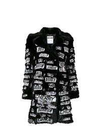 schwarzer bedruckter Pelz von Moschino