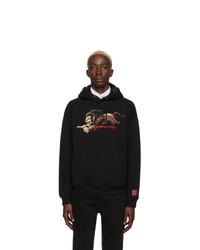 schwarzer bedruckter Pullover mit einem Kapuze von Givenchy