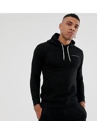 schwarzer bedruckter Pullover mit einem Kapuze von Good For Nothing
