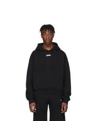 schwarzer bedruckter Pullover mit einem Kapuze von Off-White