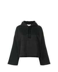 schwarzer bedruckter Pullover mit einer Kapuze von Acne Studios