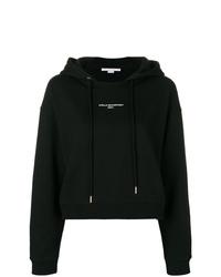 schwarzer bedruckter Pullover mit einer Kapuze von Stella McCartney