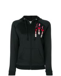 schwarzer bedruckter Pullover mit einer Kapuze von Valentino