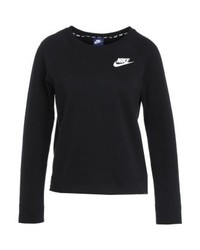 Schwarzer bedruckter Pullover mit Rundhalsausschnitt von Nike