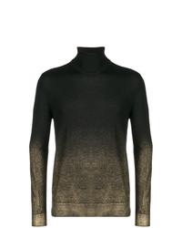 schwarzer bedruckter Rollkragenpullover von Versace Collection