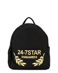 schwarzer bedruckter Rucksack von Dsquared2