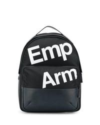 schwarzer bedruckter Rucksack von Emporio Armani
