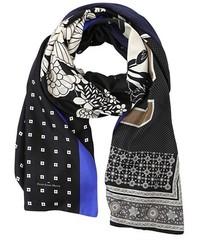schwarzer bedruckter Schal