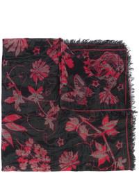 schwarzer bedruckter Schal von Alexander McQueen
