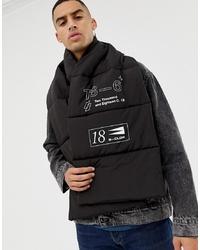 schwarzer bedruckter Schal von ASOS DESIGN