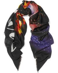 schwarzer bedruckter Schal von Balenciaga