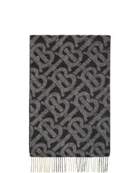 schwarzer bedruckter Schal von Burberry