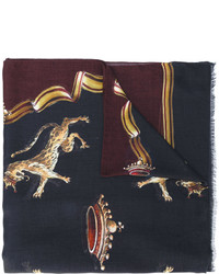 schwarzer bedruckter Schal von Dolce & Gabbana