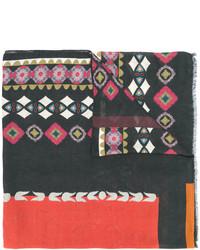 schwarzer bedruckter Schal von Etro
