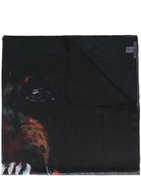 schwarzer bedruckter Schal von Givenchy