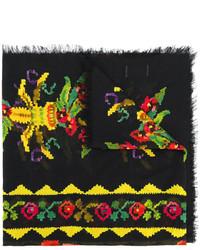 schwarzer bedruckter Schal von Gucci