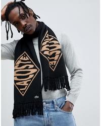 schwarzer bedruckter Schal von lacoste live