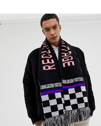 schwarzer bedruckter Schal von Reclaimed Vintage