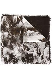 schwarzer bedruckter Schal von Roberto Cavalli