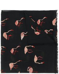 schwarzer bedruckter Schal von Saint Laurent