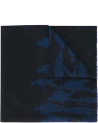 schwarzer bedruckter Schal von Salvatore Ferragamo