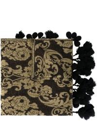 schwarzer bedruckter Schal von Twin-Set