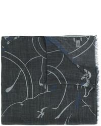 schwarzer bedruckter Schal von Valentino