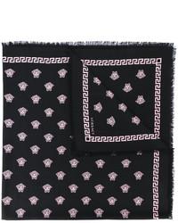 schwarzer bedruckter Schal von Versace