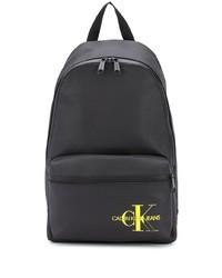 schwarzer bedruckter Segeltuch Rucksack von Calvin Klein Jeans