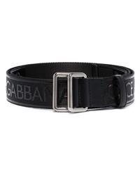 schwarzer bedruckter Segeltuchgürtel von Dolce & Gabbana