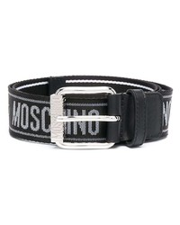schwarzer bedruckter Segeltuchgürtel von Moschino