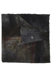 schwarzer bedruckter Seideschal von Avant Toi
