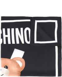 schwarzer bedruckter Seideschal von Moschino