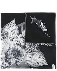 schwarzer bedruckter Seideschal von Salvatore Ferragamo