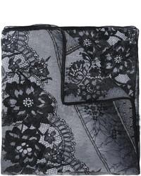 schwarzer bedruckter Seideschal von Ungaro