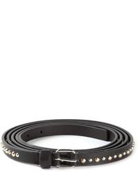 schwarzer beschlagener Ledergürtel von Givenchy