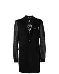 schwarzer bestickter Mantel von Philipp Plein