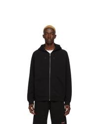 schwarzer bestickter Pullover mit einem Kapuze von Givenchy