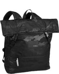 schwarzer Camouflage Rucksack von Strellson