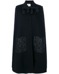 schwarzer Cape Mantel von Fendi