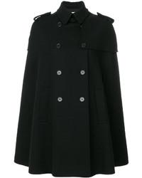 schwarzer Cape Mantel von RED Valentino