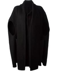 schwarzer Cape Mantel von Rick Owens