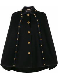schwarzer Cape Mantel von Versace