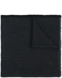 schwarzer leichter Schal mit Chevron-Muster von Salvatore Ferragamo