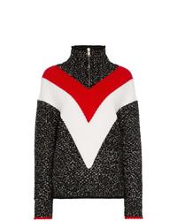 schwarzer Rollkragenpullover mit Chevron-Muster von Givenchy