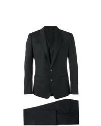 schwarzer Dreiteiler mit Karomuster von Dolce & Gabbana