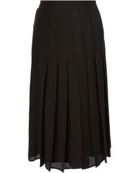 schwarzer Midirock mit Falten von Givenchy