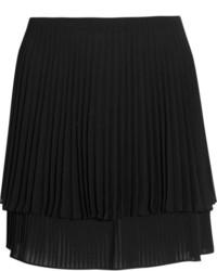 schwarzer Minirock mit Falten von Topshop